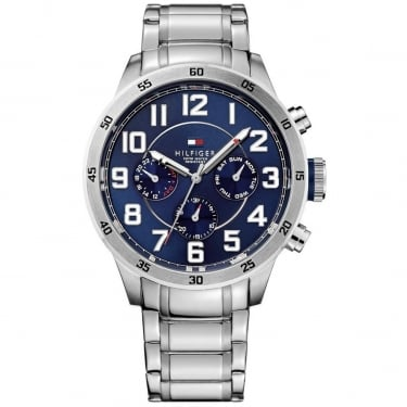 Tommy Hilfiger Gents Silver Navy Watch