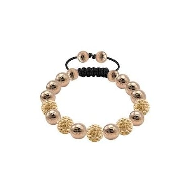 Tresor Paris Gold and Stainless Steel Bracelet
