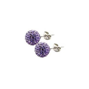 Tresor Paris Lilac Crystal Stud Earrings