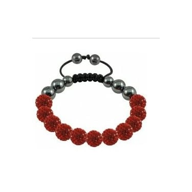 Tresor Paris Red Crystal - Magnetite Bracelet