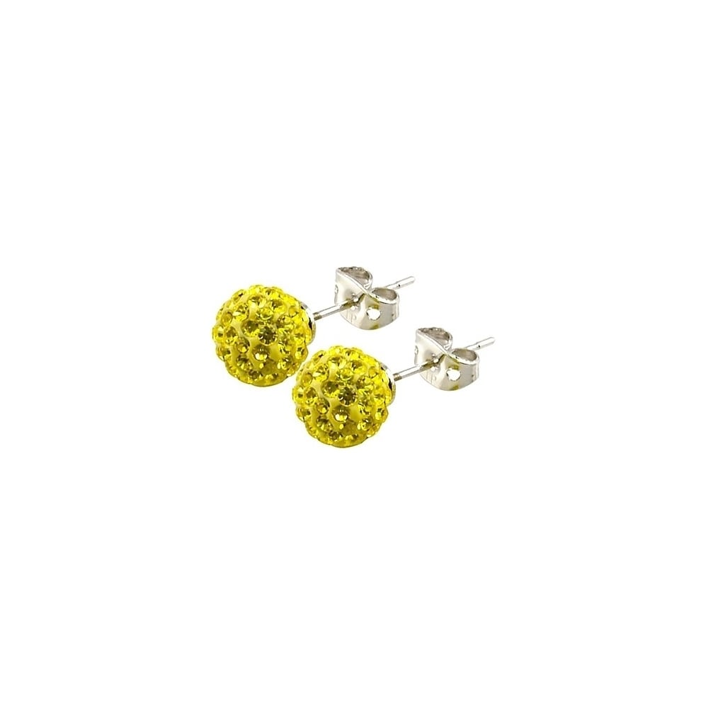 apm stud silver earrings match monaco yellow mix amour set
