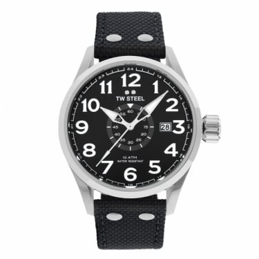 TW Steel Gents Black Leather Watch