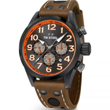 TW Steel Gents Brown Leather Watch