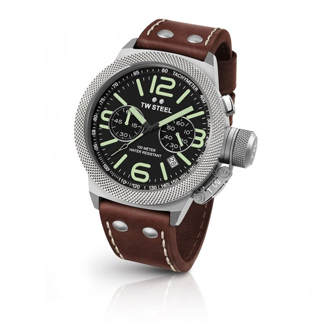 TW Steel Gents Canteen Brown Leather Watch